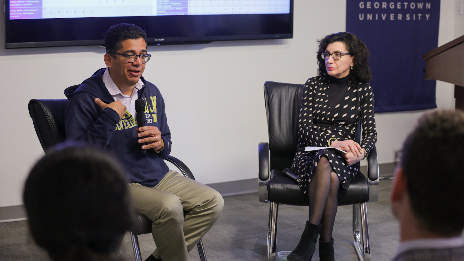 Irfan Nooruddin and Jocelyne Cesari speak at event on religion and nationalism in India.