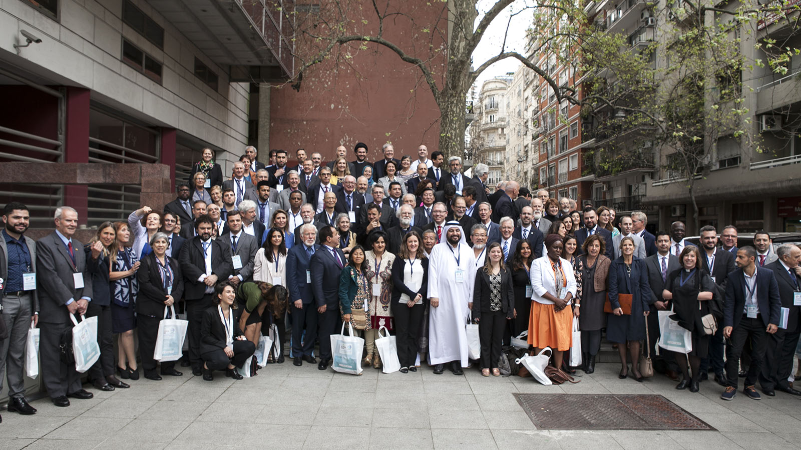 The participants of the 2018 Interfaith Forum in Argentina pose together.