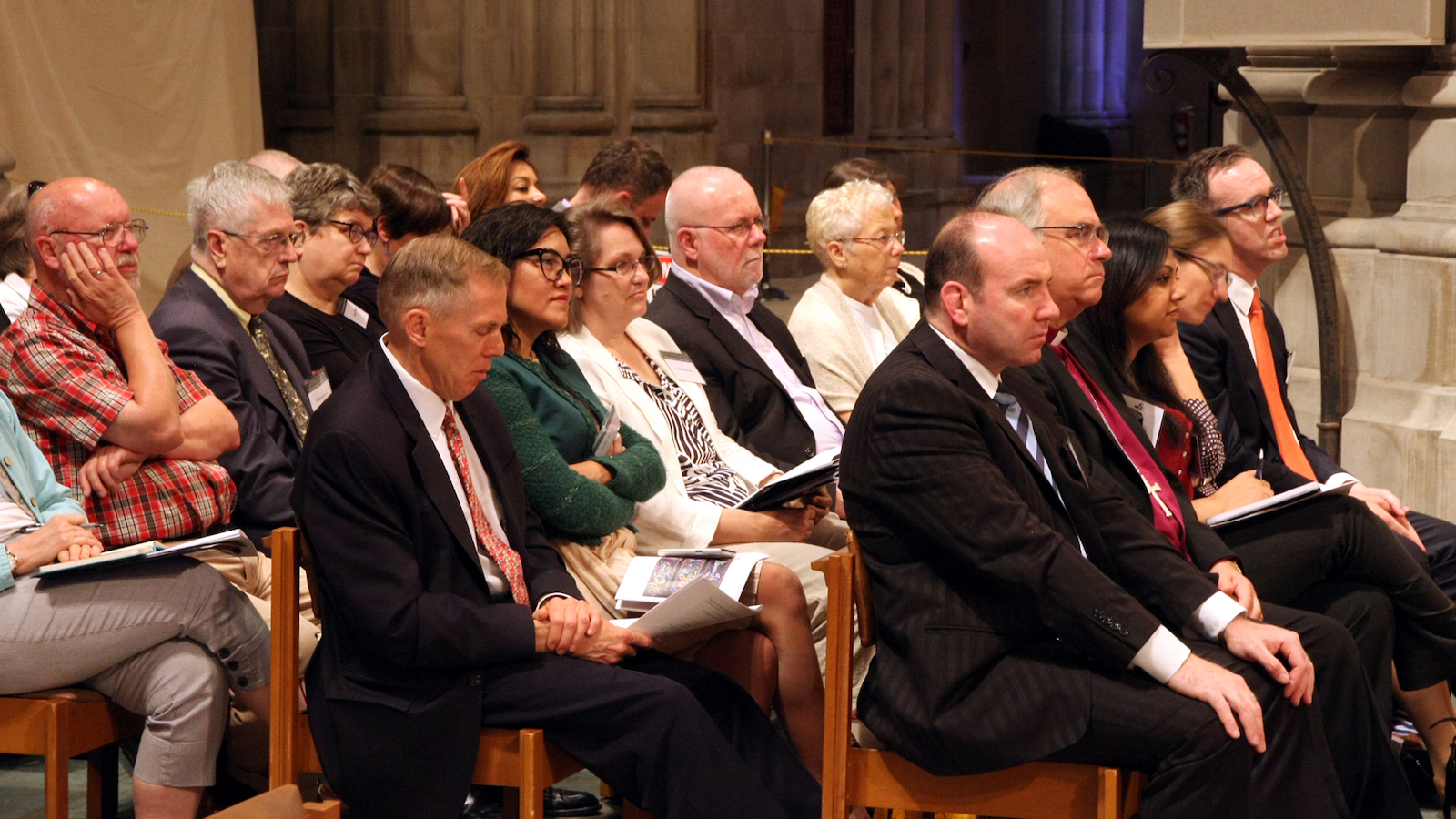 """Participants in the May 2015 """"Vatican II: Remembering the Future"""" conference attend an event at the National Cathedral in Washington, DC."""