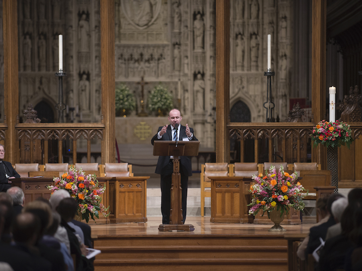 """Gerard Mannion speaks during the May 2015 conference """"Vatican II: Remembering the Future."""""""