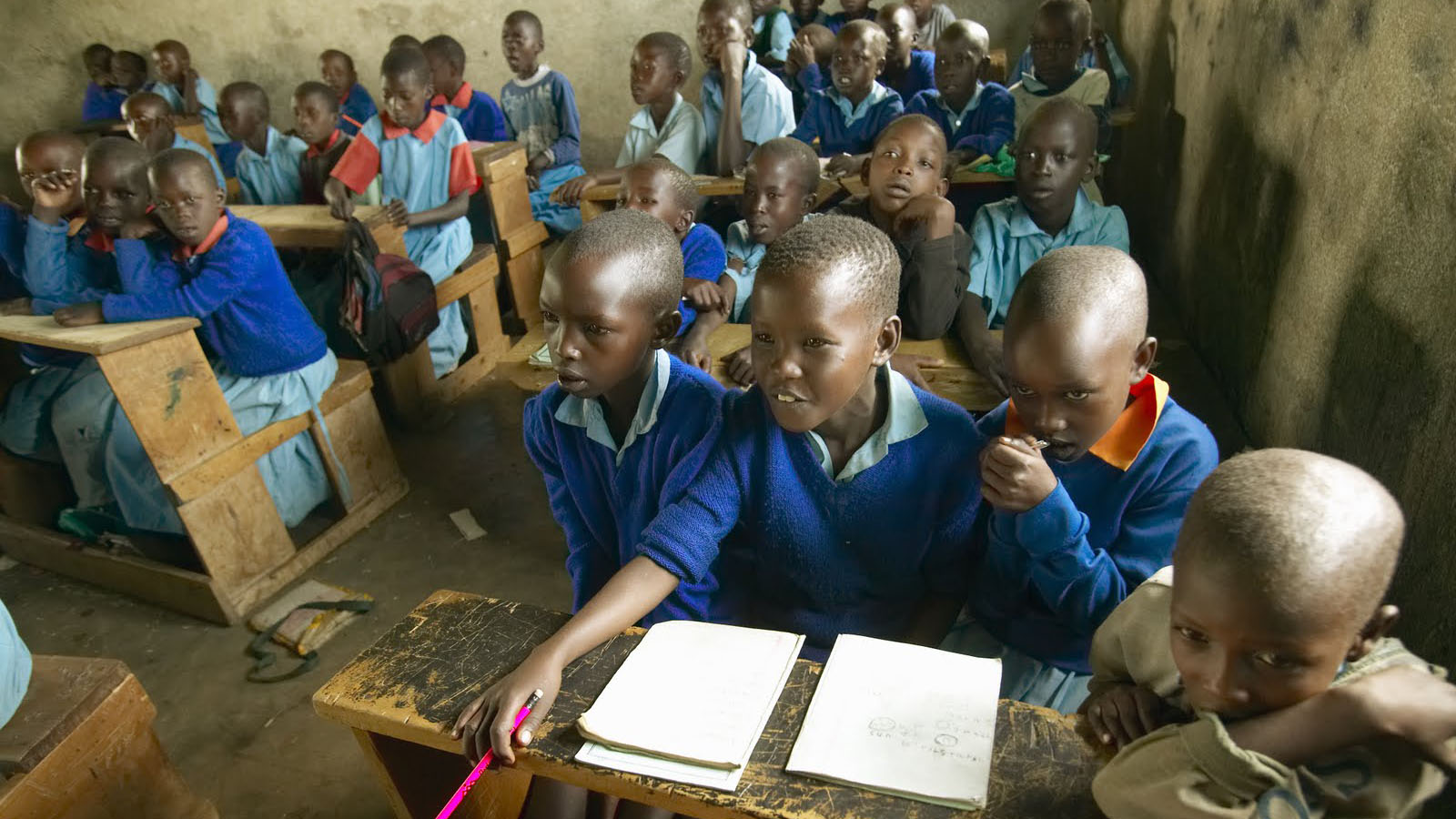African children at a classroom