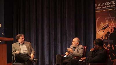 José Casanova and Talal Asad at a 2009 Berkley Center event.