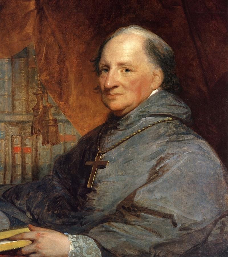 Portrait of Archbishop Bishop John Carroll by Gilbert Stuart, c. 1804.